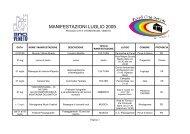 MANIFESTAZIONI LUGLIO 2009 - Piccole Città Storiche