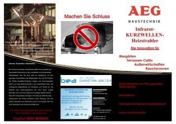 Infrarot- KURZWELLEN- Heizstrahler Machen ... - bea Christian Walter