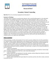 Research Brief Secondary School Counseling - Online Effectiveness ...