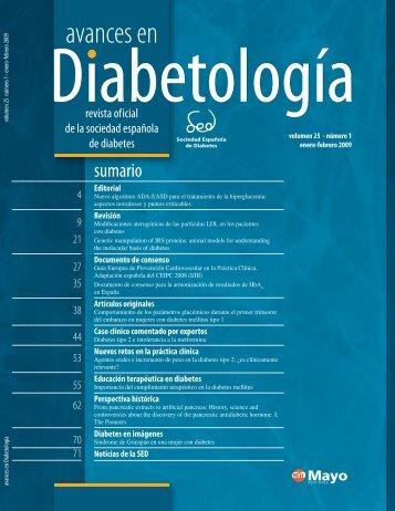 4002769 AVANCES 25(1).indb - Sociedad Española de Diabetes