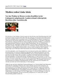 Medien reden Linke klein Vor den Wahlen in Hessen werden ...