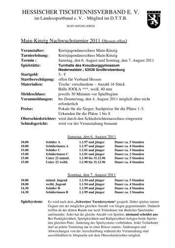 Einladung Turnier 2011 - 3 - MKK HTTV - Hessischer ...