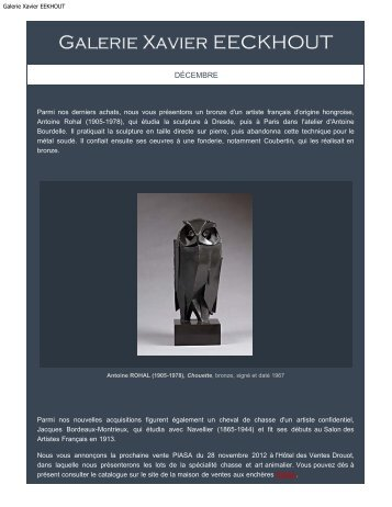 Galerie Xavier EEKHOUT - Galerie Xavier Eeckhout