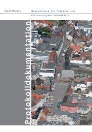 Protokolldokumentation des Wettbewerbs - Stadt Minden
