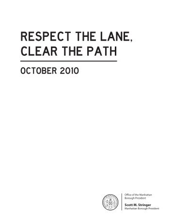 Respect the Lane, Clear the Path - Manhattan Borough President