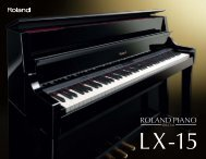 LX-15 catalog - Owner's Manual - Roland