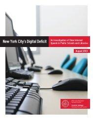 New York City's Digital Deficit - Manhattan Borough President