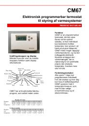 Elektronisk programmerbar termostat til styring af varmesystemer