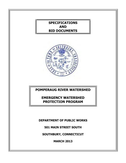 specifications and bid documents pomperaug river watershed