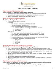2012 Influenza Myths and Facts - University of Iowa Hospitals and ...