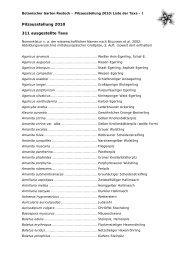 Liste ausgestellter Pilz-Taxa 2010 - Botanischer Garten