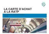 LA CARTE D'ACHAT A LA RATP - apeca