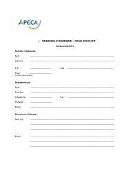 Formulaire de demande d'adhésion au format pdf - apeca