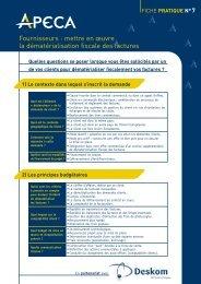 Fournisseurs : mettre en œuvre la dématérialisation fiscale ... - apeca