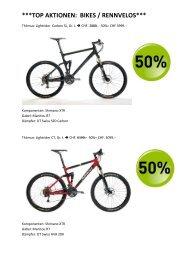 top aktionen: bikes / rennvelos