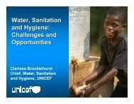 Water, Sanitation and Hygiene: Challenges and Opportunities