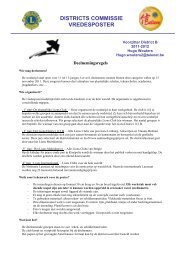 districts commissie vredesposter - Lions Clubs International - MD ...