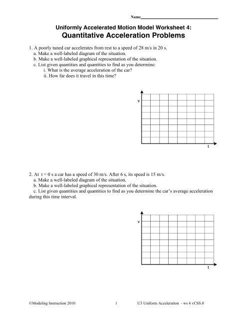 Worksheet 4 - Modeling Physics