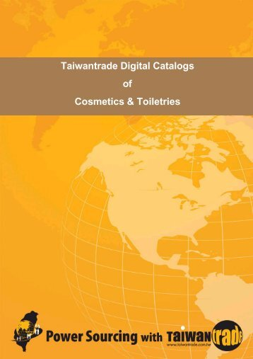 Taiwantrade Digital Catalogs of Cosmetics & Toiletries