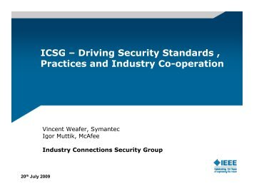ICSG - The IEEE Standards Association