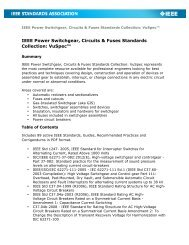 IEEE Power Switchgear, Circuits & Fuses Standards Collection ...