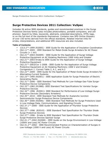 Surge Protective Devices 2011 Collection: VuSpec - The IEEE ...