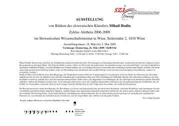 AUSSTELLUNG von Bildern des slowenischen Künstlers Mihail ...