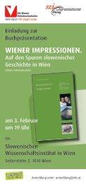 Wiener impressionen. - SZI Dunaj