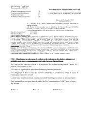 Compte Rendu du 19 décembre 2011 - Communauté de ...