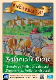 Programme Médiévales 2013 WEB.pdf - Mairie de Balaruc Le Vieux