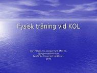 Fysisk träning vid KOL - Alfa-1 Sverige