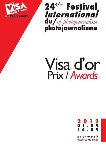 Palmarès Visa pour l'image - Club de la Presse de Bordeaux