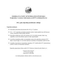 2012. gada stipendiju pieteikšanās veidlapa - Garezers