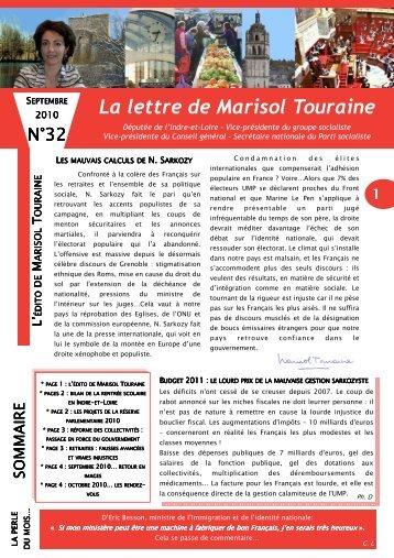 Lettre n°32 - Le Blog de Marisol Touraine