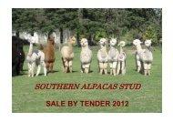 sales tender catalogue - Southern Alpacas