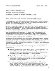 1 Lettre de partenariat No 47A Thoune, le 19.2. 2013 Eglise ...