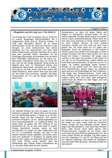 Ausgabe 11 - Fussballabteilung TSG Dissen