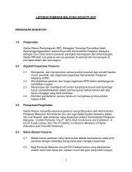 Laporan Pameran Malaysia Inovatif 2010 - Bahagian Teknologi ...