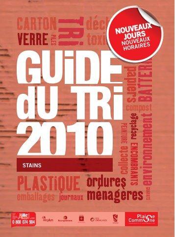 Télécharger le guide du tri 2010 - Ville de Stains