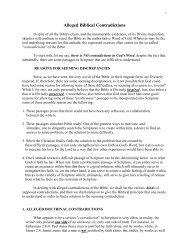 ALLEGED BIBLE CONTRADICTIONS - NetBibleStudy.com