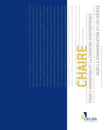 Télécharger la plaquette CHAIRE - Celsa