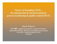Theory of Sampling (TOS) – the missing link in ... - User Meeting