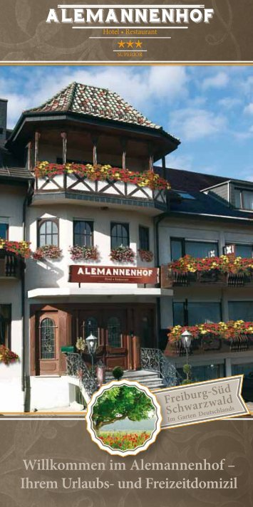 Download hotel brochure - Alemannenhof