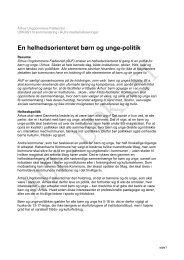 En helhedsorienteret børn og unge-politik - Århus Ungdommens ...