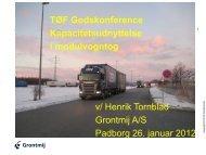 v/ Henrik Tornblad Grontmij A/S Padborg 26. januar 2012 TØF ...
