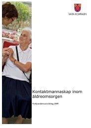 Kontaktmannaskap inom äldreomsorgen - Vara kommun