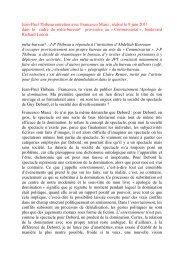Entretien F.Masci - protocoles meta