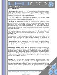 VENTAJAS DE LOS LEDS 1. Mayor Eficiencia. La iluminación LED ...