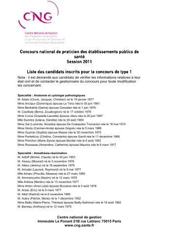 CNPH2011 type1 liste web - CNG