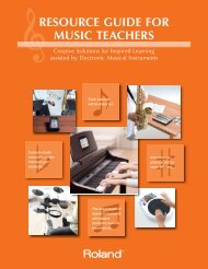 Resource Guide for Music Teachers - Roland